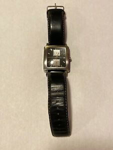 Kenneth Cole Mens Stainless Steel Square Multifunction KC 1235 2 Small Scratches