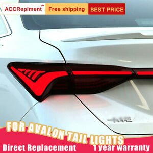 For Toyota Avalon 2019-2021 LED Taillights Assembly Red / Dark LED Rear Lamps