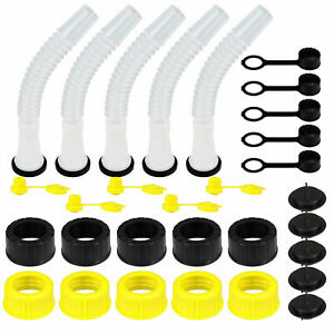 5 SETS Rubbermade Replacement Gas Can Spout fit Blitz Midwest Scepter  Stratton
