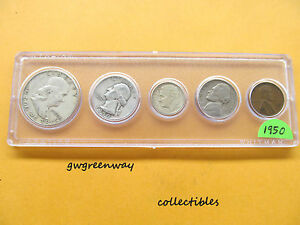 1950 Silver Birth year set 5 coins  (other years also) FREE SHIPPING