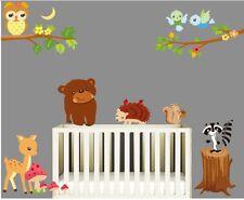 Premium Wandtattoo Zoo Wandsticker dekorativ Kinderzimmer Süße Tiere  XXL #2