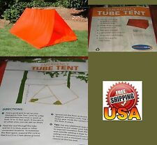 2 man Tube Tent / Emergency Shelter With Bottom 8 x 6 x 3 '