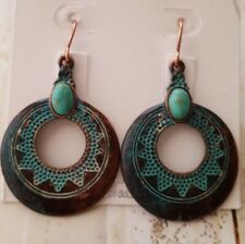 Southwest copper look round earrings fashion jewelry