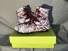 New Mens UA Highlight Lux MC Football High Top Cleats Size 16 Red & White