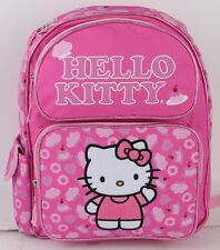 """Hello Kitty Pink Cake 14"""" Kids' Full size Backpack and Girl's School Bag Pink"""