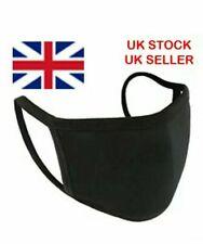 100% COTTON FACE MASK BLACK QUALITY  MOUNTH COVER REUSABLE  UK STOCK UNISEX lot