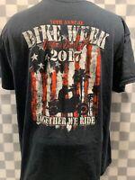 BIKE WEEK 2017 Daytona Beach Florida 76th Annual Motorcycles T-Shirt Size XL