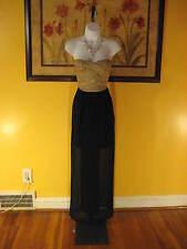 NWT  Arden B. Black & Gold Bandage Strapless Maxi Dress Size XS