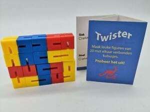 "NEW Twister 3D Plastic Puzzle Game Interlocking Blocks Snake & More 3x2x0.5"" US"