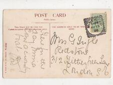 Minehead Squared Circle Postmark 13 Aug 1908 470b