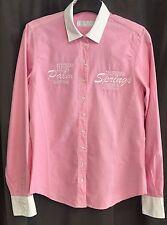 """Damen Bluse """"Campione"""" Langarm Farbe: Rosé, weißer Kragen, Größe 36, Baumwolle"""