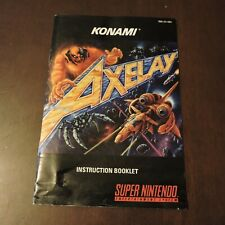 Axelay Super NES Super Nintendo SNES Instruction Manual Booklet Book Authentic