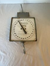 VINTAGE  HANSON HANGING DAIRY SCALE MODEL 600 MADE IN THE USA industrial