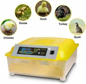 NEW 96/112 Digital Egg Incubator Hatcher Temperature Control Automatic Turning