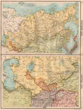 NORTH & CENTRAL ASIA. Khiva Bukhara Turkistan. Unresolved borders 1898 old map