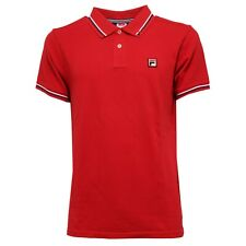 5312K polo uomo FILA TENNIS maglia red cotton polo t-shirt man