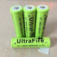 4 x 18650, 8800 UltraFire 3.7V Rechargeable Battery
