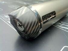 Triumph Tiger 1050 Sport 2012 Titanium Round Carbon Outlet Exhaust Can Silencer