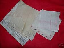 Vintage / Antique 4 silk pocket square, hankerchiefs, hankies