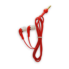 RED EARPHONES AND WHITE EARPIECE HEADPHONES FOR iPHONE 4S 4 3G iPAD SAMSUNG S3