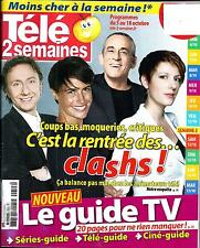 TELE 2 SEMAINES N°255 5 OCTOBRE 2013  CLASH ANIMATEURS TV