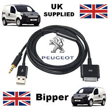 Peugeot Bipper  iPhone iPod 3.5mm USB & Aux Cable replacement