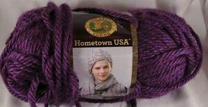 Lion Brand Hometown USA Yarn Portland Wine Knitting Crochet Super Bulky Crafts