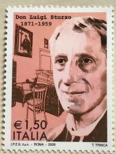 FRANCOBOLLO DON LUIGI STURZO 1871-1959 FIOR DI STAMPA 2009