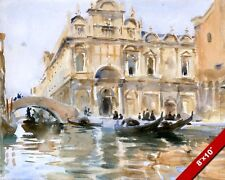 MENDICANTI CANALS OF VENICE ITALY WATER COLOR PAINTING ART REAL CANVASPRINT