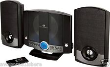 Small Stereo System Compact Shelf Sound MP3 DVD Aux Remote CD DJ Speakers Music