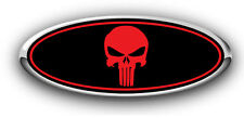 Ford Focus 2007-2013 Overlay Emblem Decal Punisher Black/Red 3PC Kit!