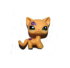 Littlest Pet Shop Purple Flower Yellow Short Hair Siamese Cat Loose Figure