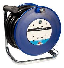Masterplug HDCC 4013/4BL 40 m 4 Socket 13 Amp câbles ouvert Reel avec Thermal Cut Out
