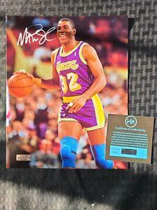 Magic Johnson Authentic Signed 8x10 Photo w/Heritage COA Lakers