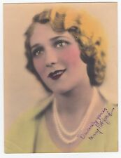 Mary Pickford Vintage Original 1931 Signed Autograph Hand Colored Photograph