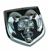 1Pcs Silver Skull Tailgate Emblem for 2009-2018 Dodge Ram 1500 2500 Badge Logo
