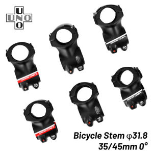 UNO MTB Bicycle Handlebar Stem 0 Degree 35/45mm Ultralight Short Road Bike Stem