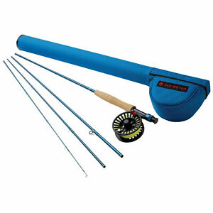 Redington 690-4 CROSSWATER 6 WT 9 Foot 4 Piece Fly Fishing Rod and Reel Combo