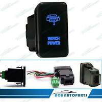 Blue Winch Power Push Switch For Toyota Landcruiser 100 Series 1998-2007 12V 3A