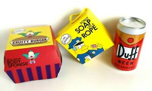 The Simpsons Mens Wash Set - Duff Beer Bath Salt Krusty Burger Sponge Donut Soap