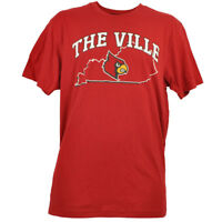 NCAA Colosseum Louisville Cardinals Mens Red Tshirt State Map The Ville Sports
