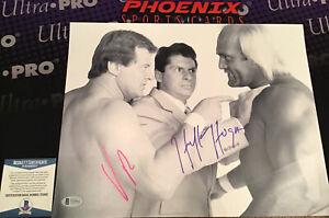Vince McMahon Hulk Hogan Dual Signed Autographed 11x14 Wrestling WWF Beckett 2
