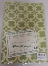 Park Designs Cameron Wave Lined Valance 58 x 18 Inches