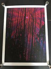 Dan McCarthy-Pink moon Rare Signé Six Couleur Sérigraphie 2010