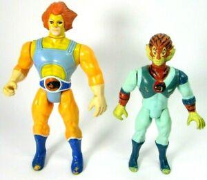 1985 VTG Thundercats Figure Lot 2 Lion-O Tygra LJN Toys T Wolf Telepix Working