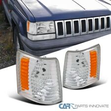 For 93-98 Jeep Grand Cherokee Clear Lens Turn Signal Lamps Amber Corner Lights