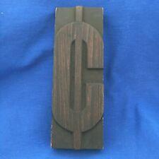 Vintage Letterpress Wood Type Large Cent Sign Block Letter Stands 65 Tall