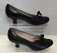 Clarks Mujer Negro 40s Retro Oficina Zapatos de salón talla UK 5.5/38.5