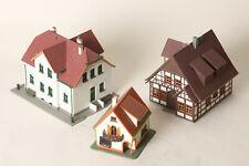Faller Vollmer Kibri H0  3 Wohnhäuser, 2 große/ 1 kleines - 1x Fachwerk (149718)