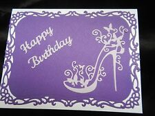 Handmade Birthday Card Using Spellbinders Decorative Labels 8 Tattered Lace Shoe